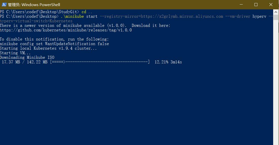 《Windows 10 minikube国内阿里云镜像安装 Hyper-V方式》